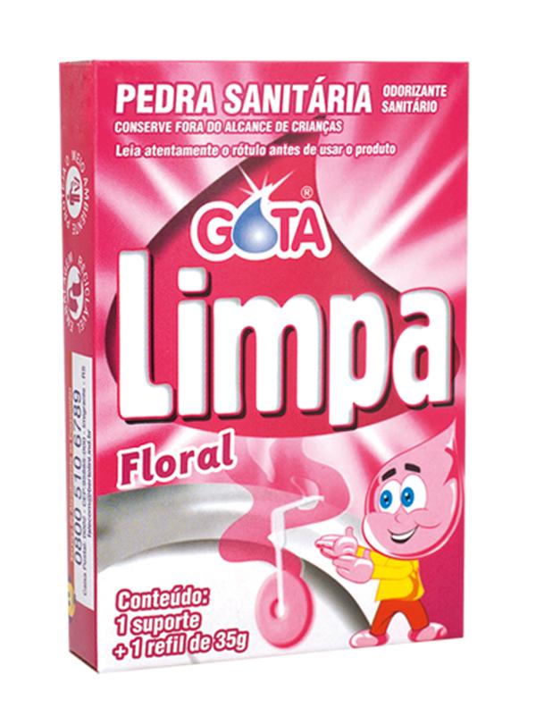Gota Limpa Toilet Rim Block Floral