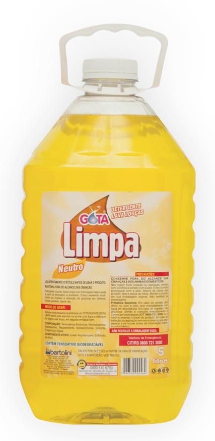 Detergente Gota Limpa Neutro 5L