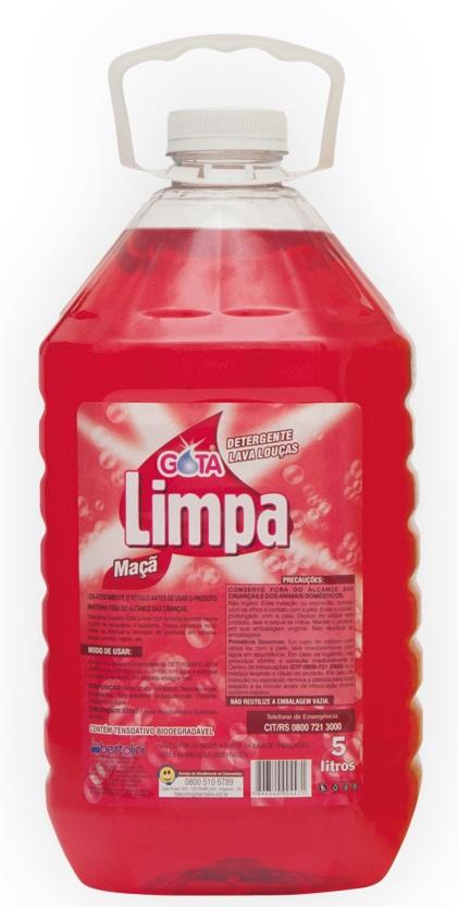 Detergente Gota Limpa Maçã 5L