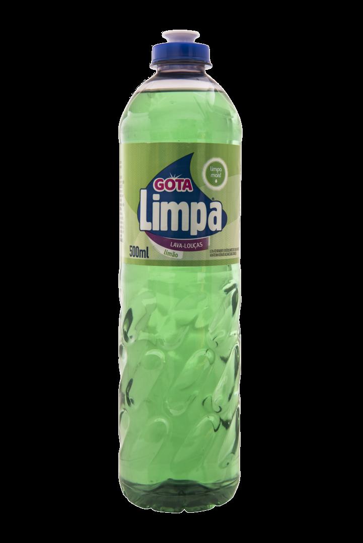 Detergente Lavavajillas Gota Limpa Limón 500ml