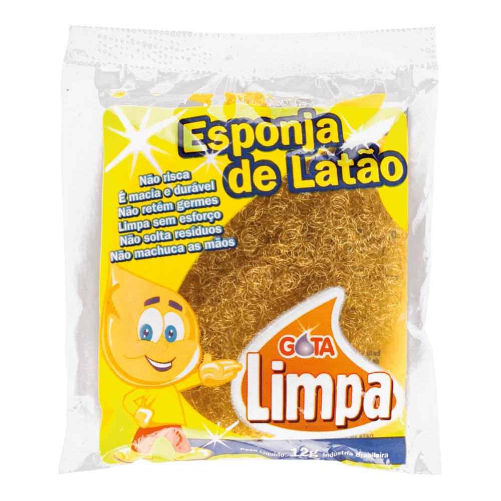 Esponja de Latão Gota Limpa
