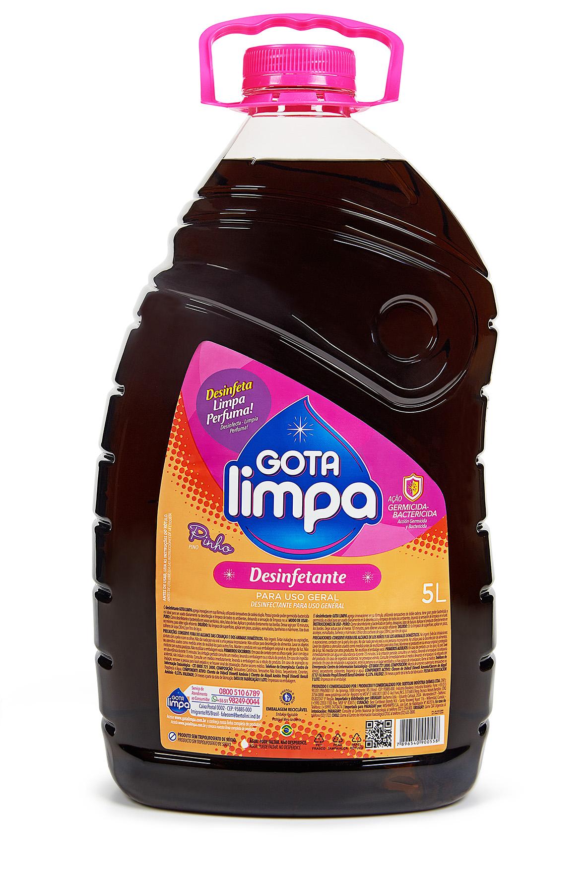 Desinfetante Gota Limpa Pinho 5L