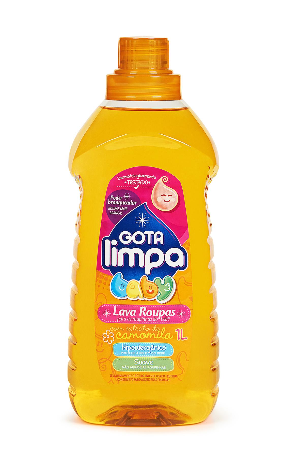 Lava Roupas Líquido Gota Limpa Baby Camomila 1L
