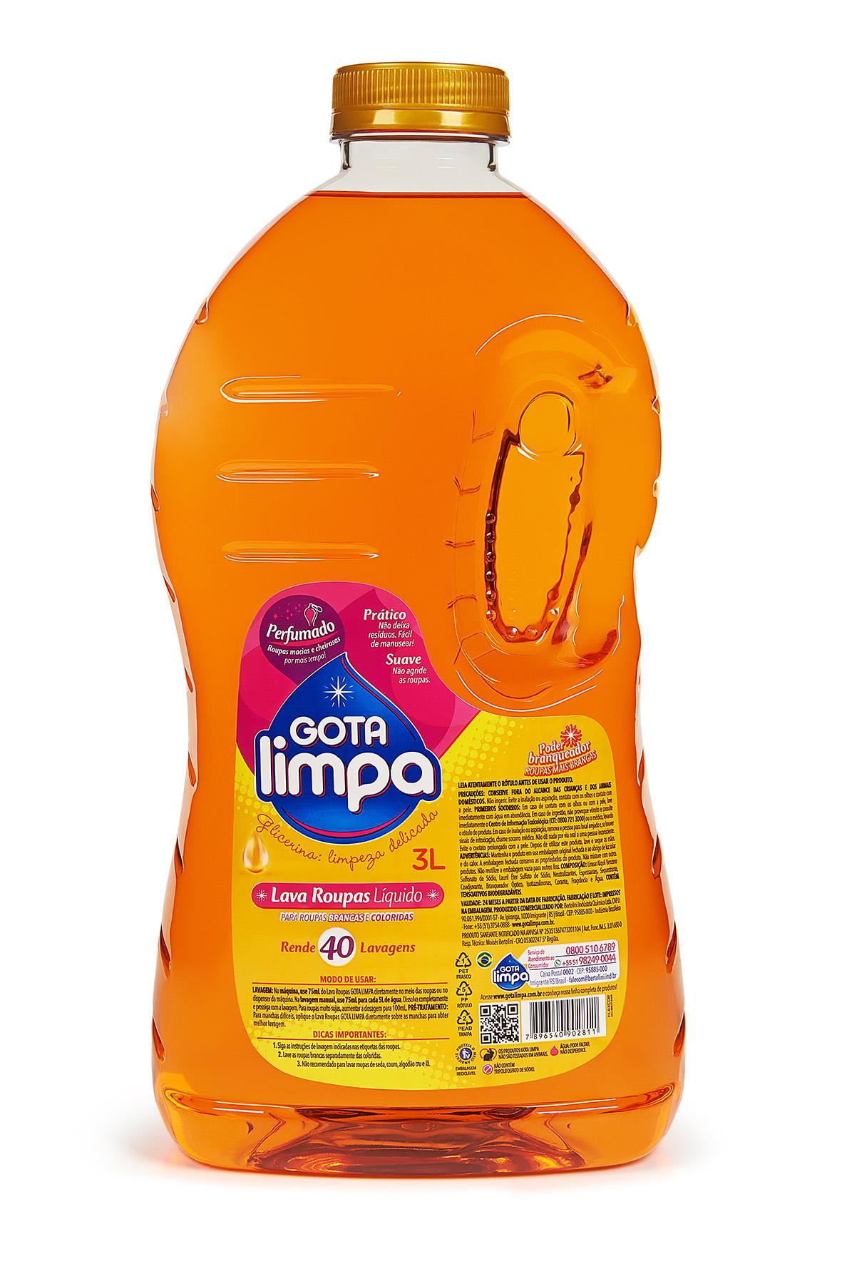 Lava Roupas Gota Limpa Glicerina 3L
