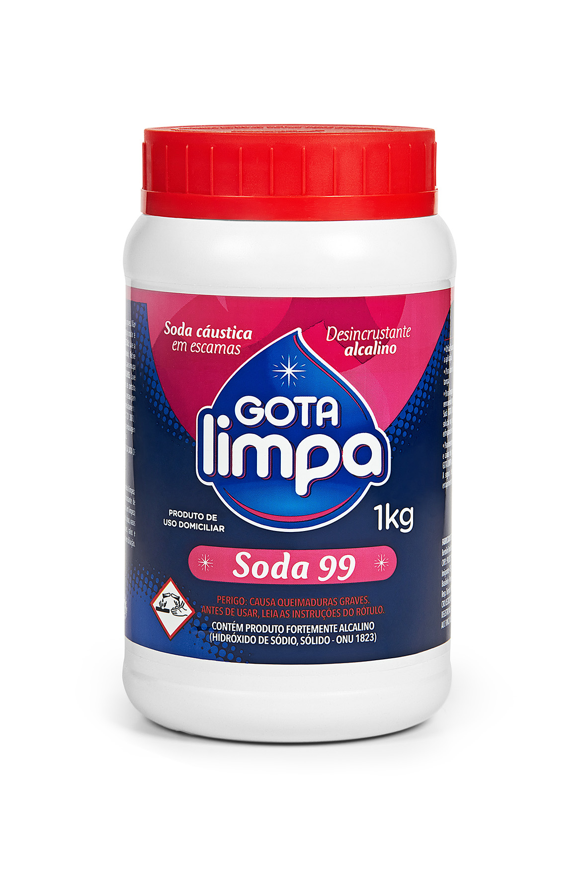 Soda Cáustica Gota Limpa 1kg