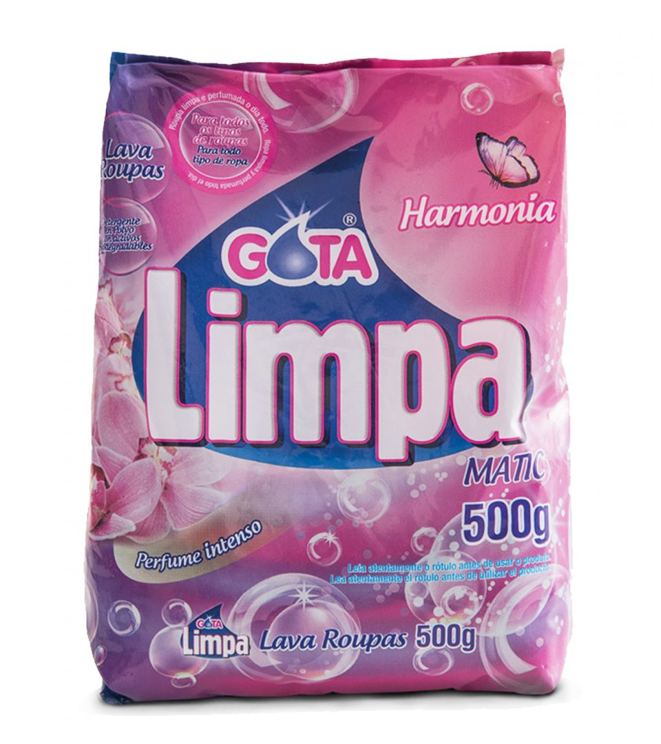 Lava Roupas Gota Limpa Harmonia 500g
