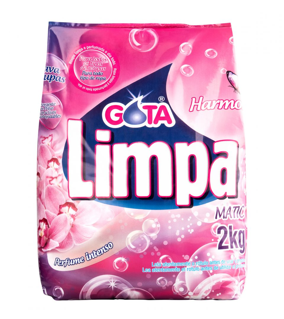 Lava Roupas Gota Limpa Harmonia 2kg