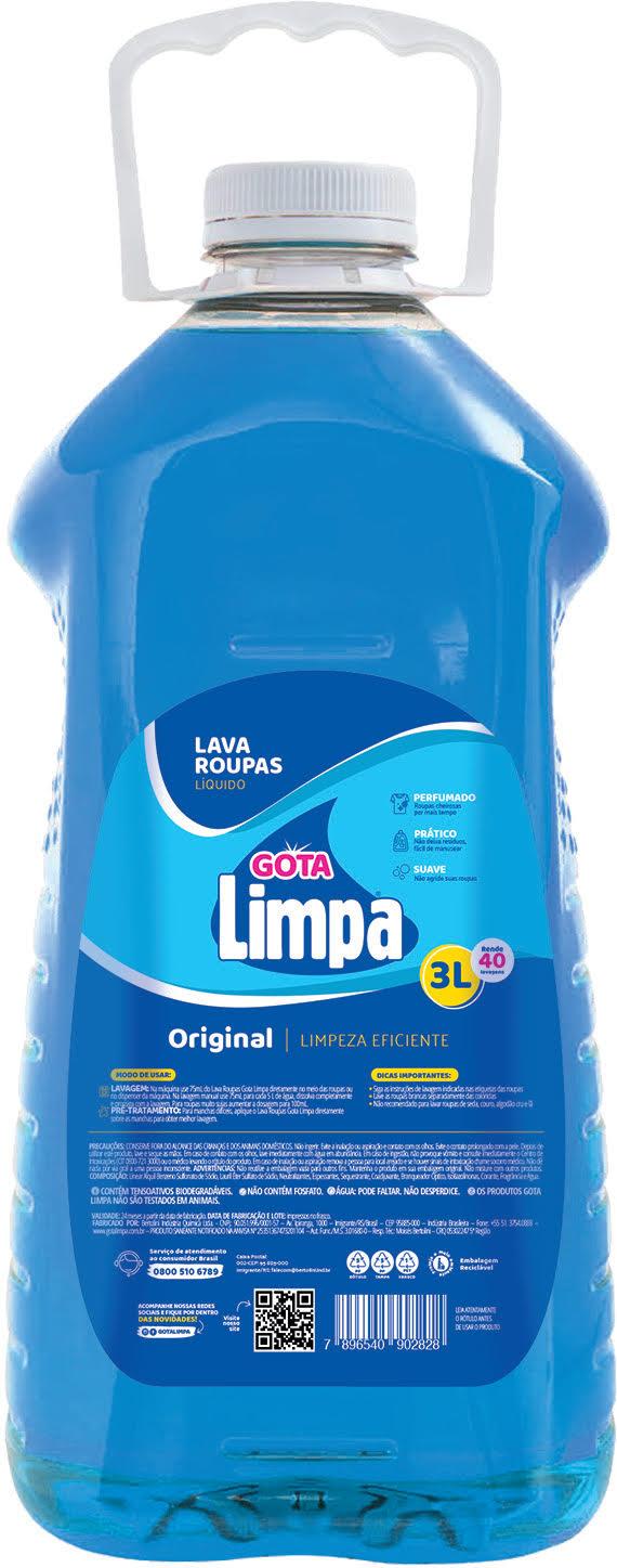 Lava Roupas Gota Limpa Original 3L
