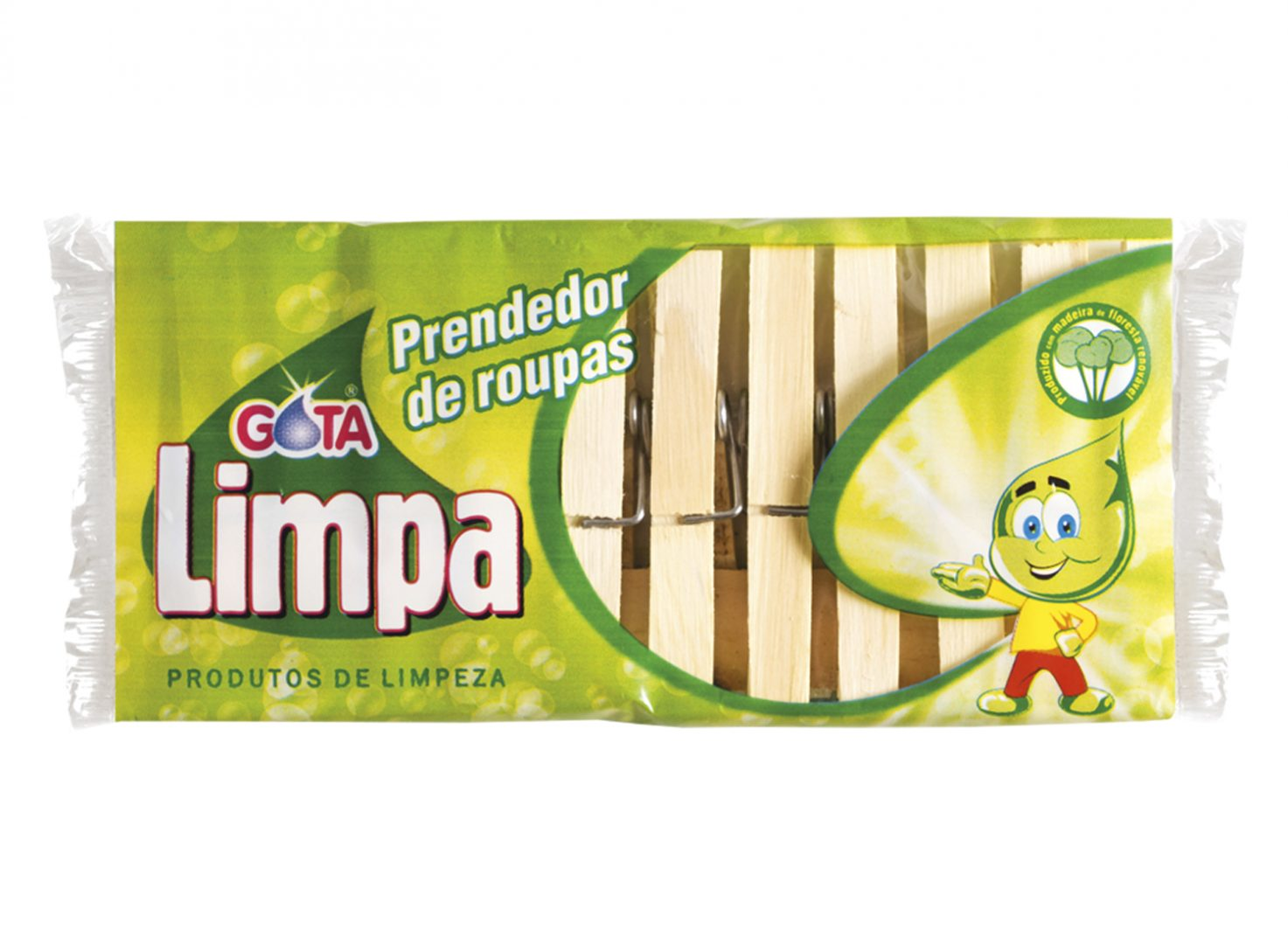 Gota Limpa Wooden Clothespin