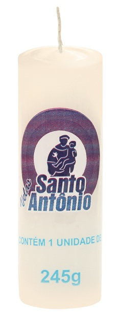 Santo Antônio White Candle Number 06