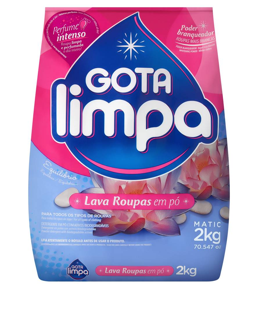Lava Roupas Gota Limpa Equilíbrio 2kg
