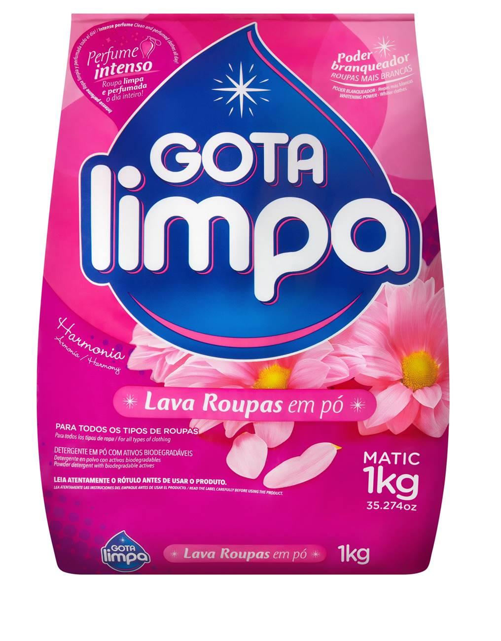 Lava Roupas Gota Limpa Harmonia 1kg