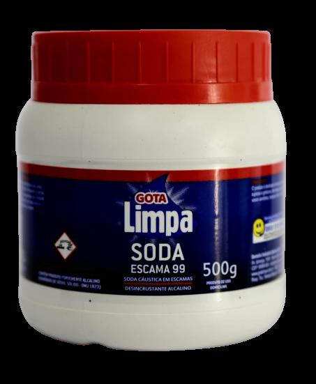 Soda Cáustica Gota Limpa 500g