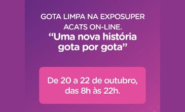 Gota Limpa conta uma história gota por gota na ExpoSuper ACATS.