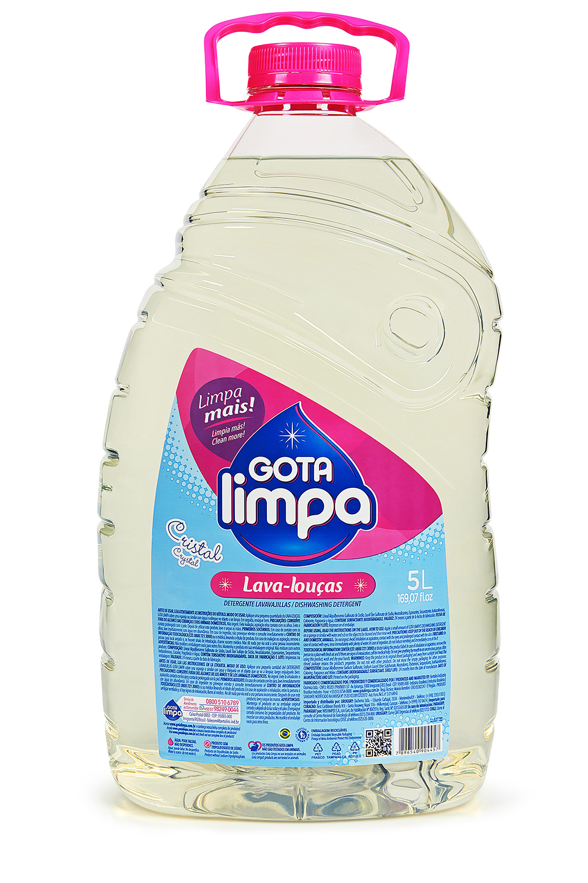 Gota Limpa Liquid Dishwashing Detergent Crystal 5L
