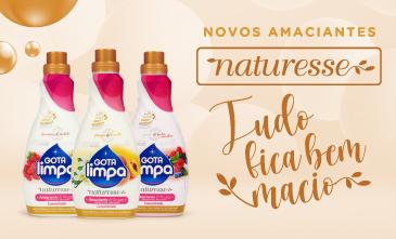 Naturesse: Gota Limpa lança nova linha de amaciante concentrado com cápsulas de perfume
