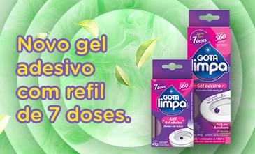 Gota Limpa lança novo gel adesivo sanitário com refil de 7 doses: seu banheiro protegido por muito mais tempo