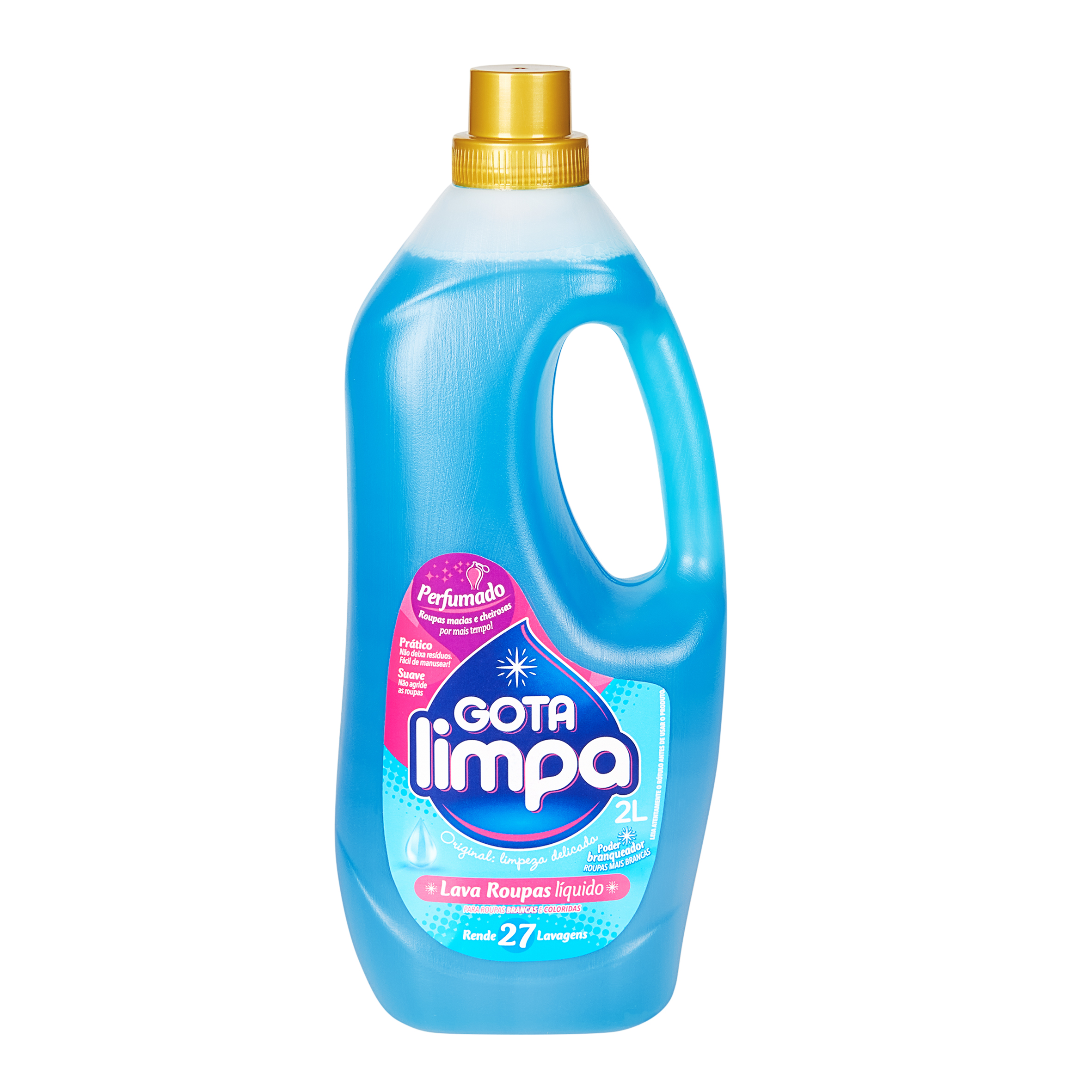 Lava Roupas Líquido Gota Limpa Original 2L