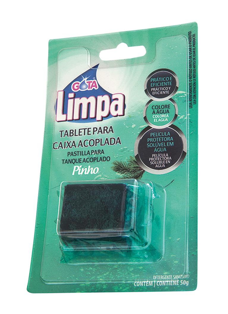 Tablete Caixa Acoplada Gota Limpa Pinho