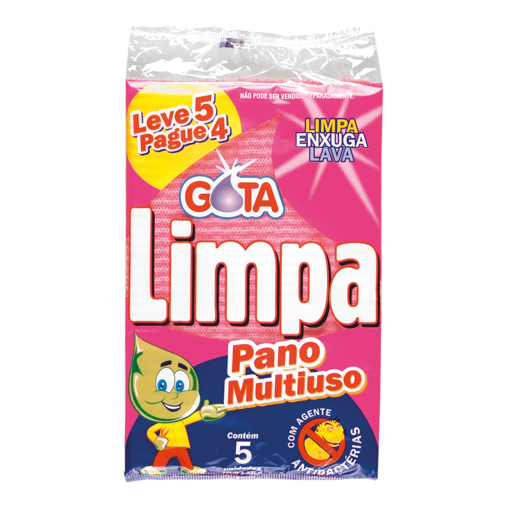 Gota Limpa Pink Multipurpose Cleaning Pad