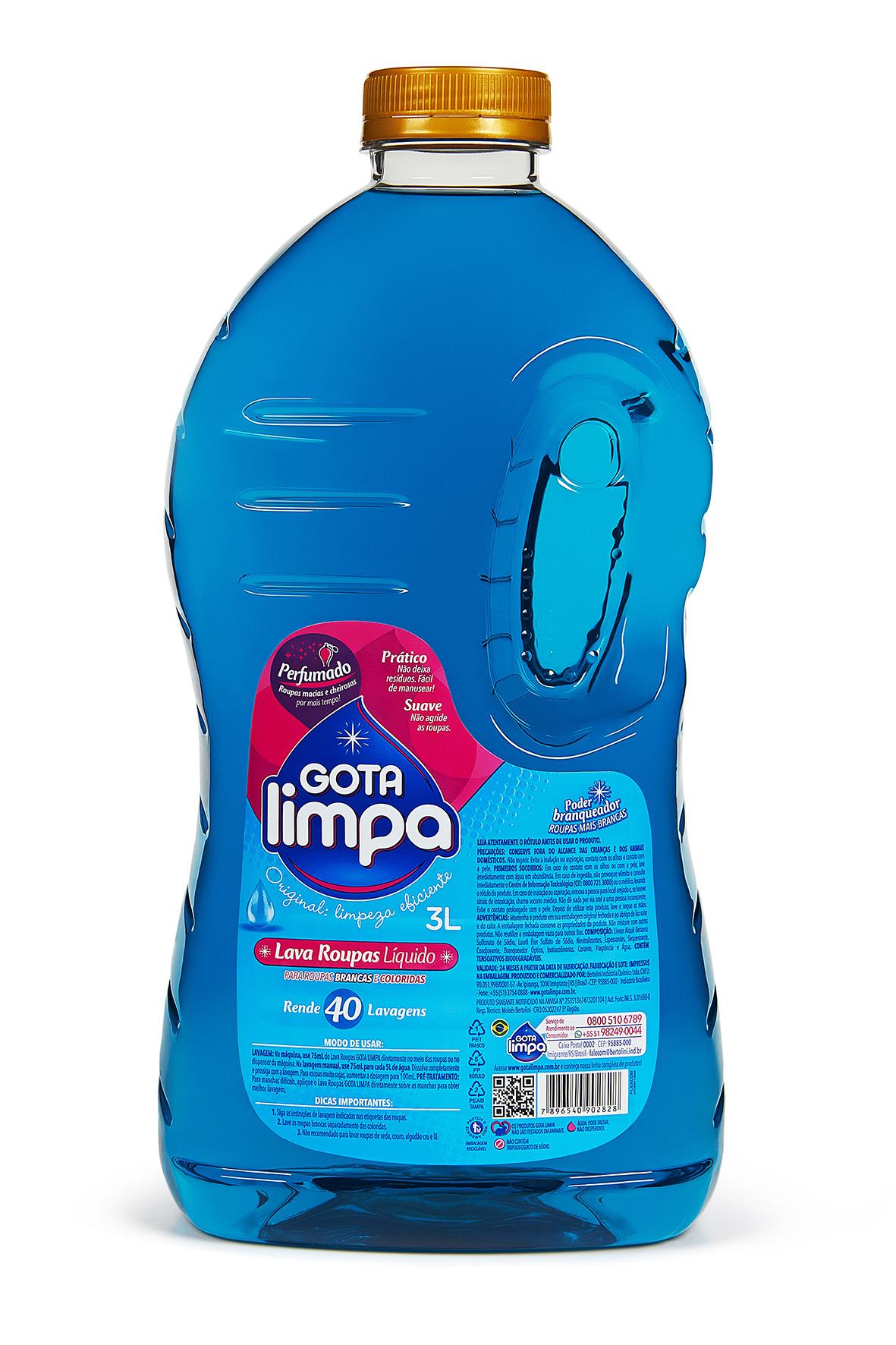 Gota Limpa Liquid Laundry Detergent Original 3L
