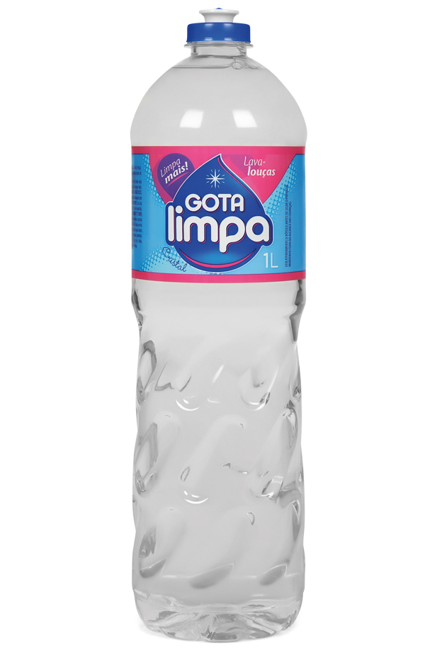 Gota Limpa Liquid Dishwashing Detergent Crystal 1L