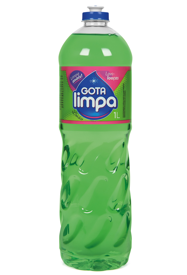 Gota Limpa Liquid Dishwashing Detergent Lemon 1L