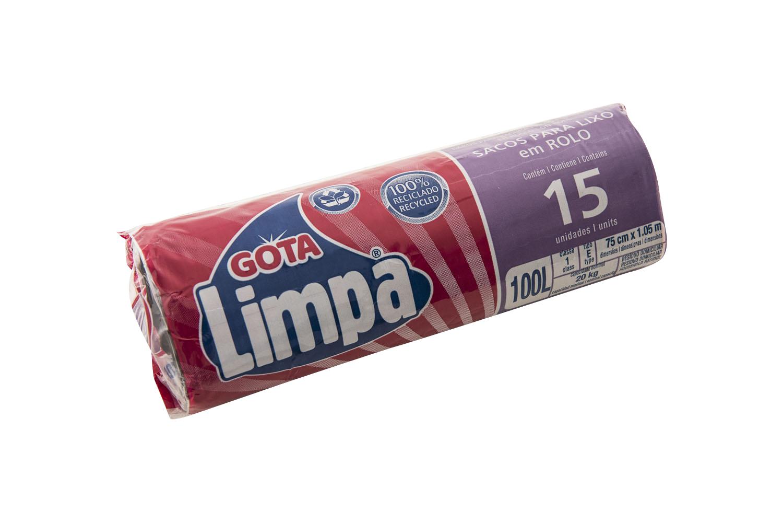 Saco para Lixo Gota Limpa – 100L