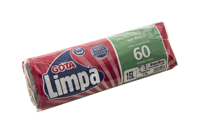 Saco para Lixo Gota Limpa – 15L