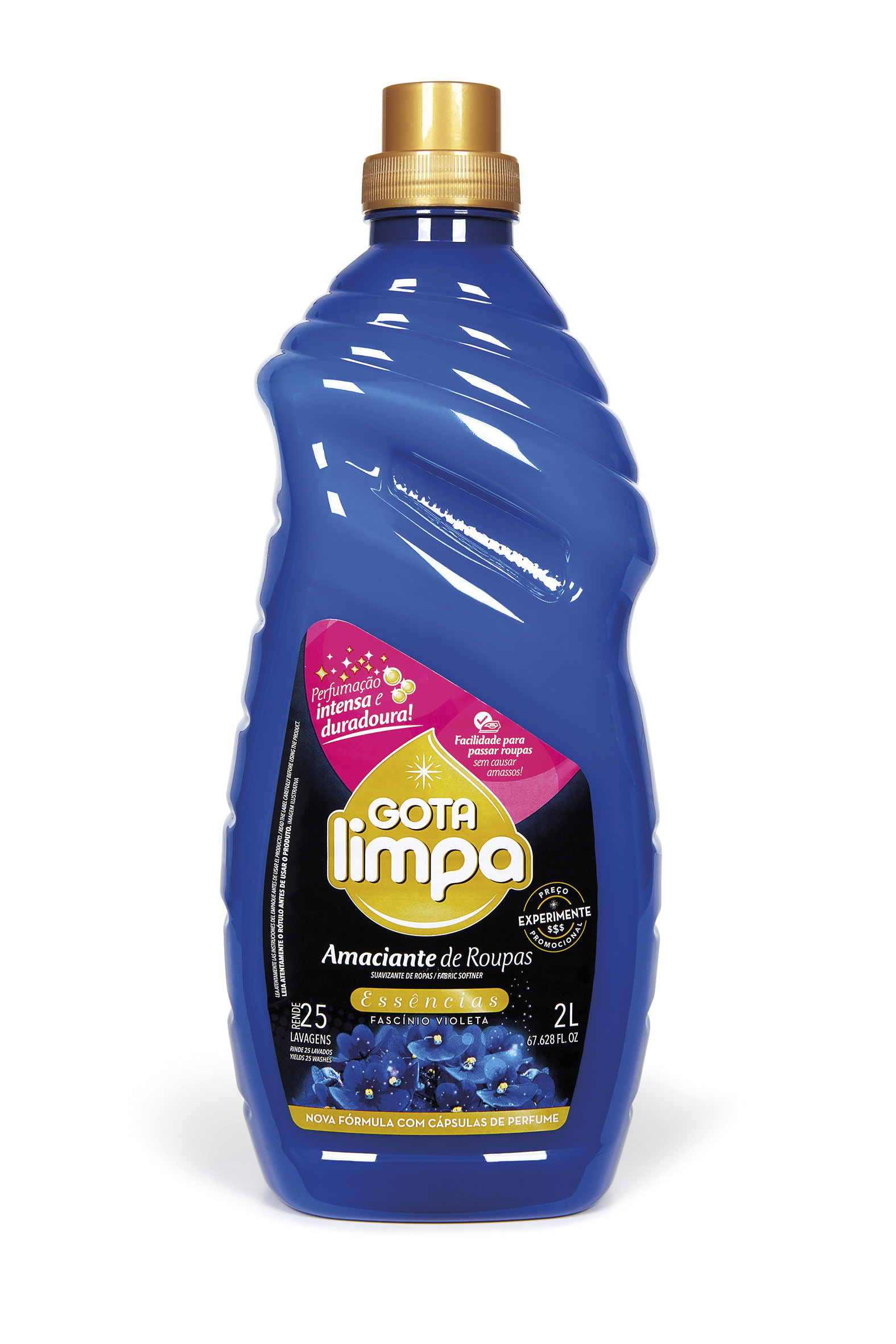 Suavizante Para Ropa Gota Limpa Essências Fascínio Violeta 2L