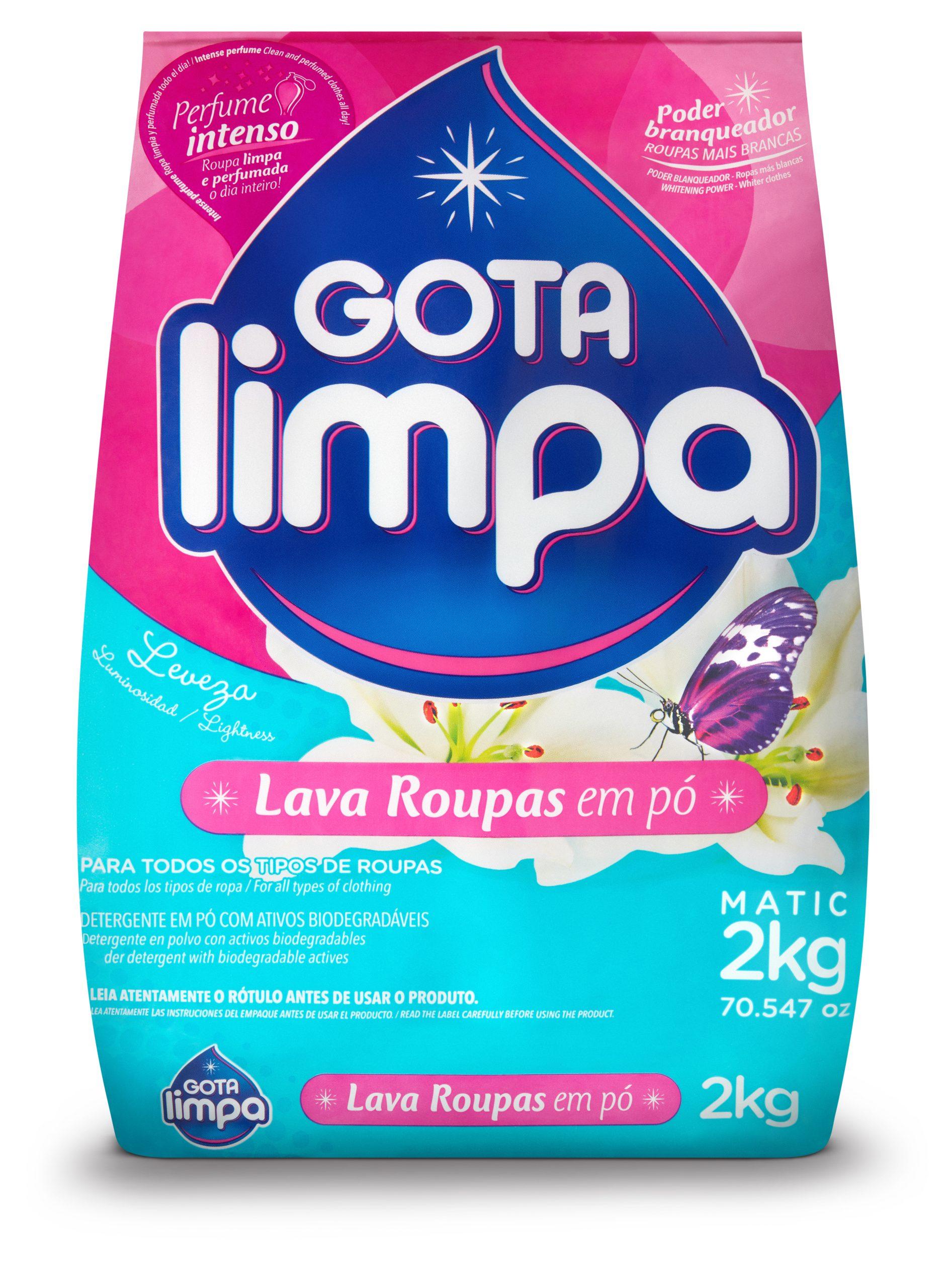 Gota Limpa Powder Laundry Detergent Lightness 2Kg